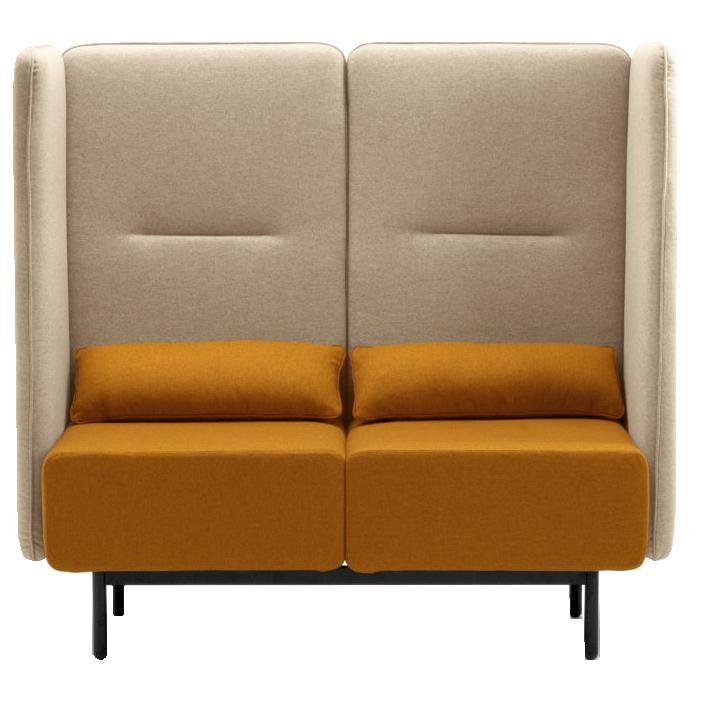 Calesita Sofa Dialog orange 2er frontal
