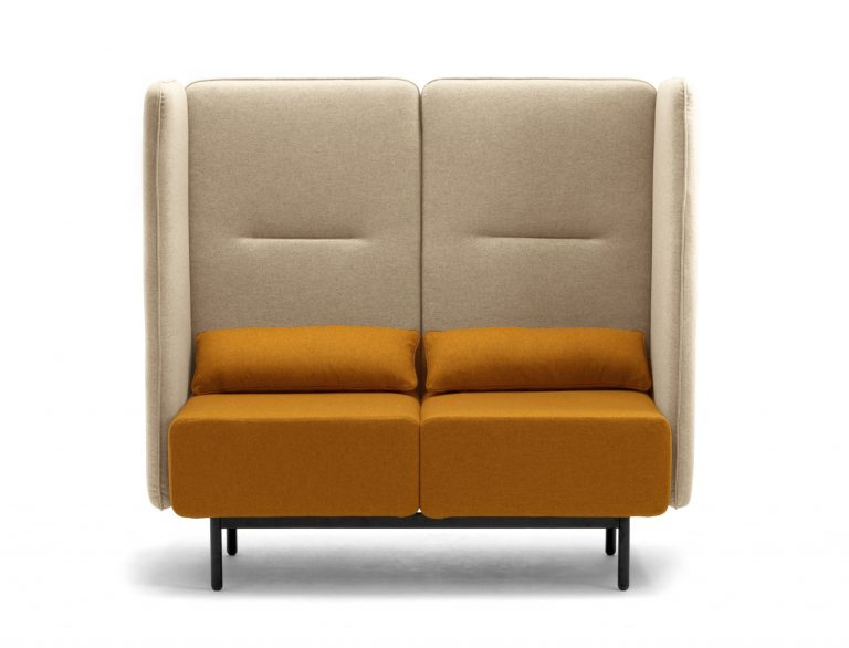 Calesita Sofa Dialog orange 2er frontal hoch