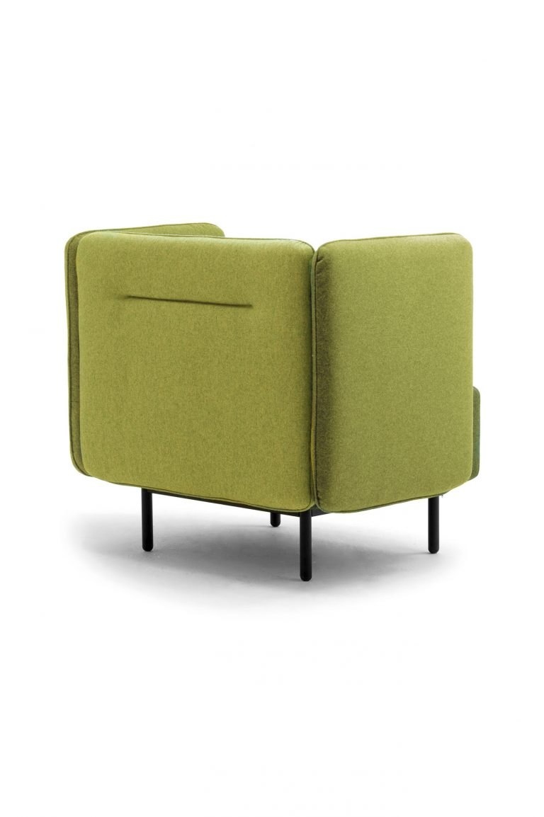 Calesita Sofa Dialog Sessel von hinten grün