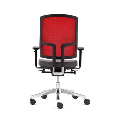 Bürodrehstuhl NetGo Rückansicht rot schwarz