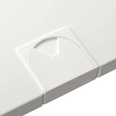 Schreibtischsysteme Zubehör Kabeldurchlassbuchsen Eckig Verkehrsweiß