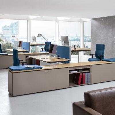 Milieunansicht Schreibtischsystem
