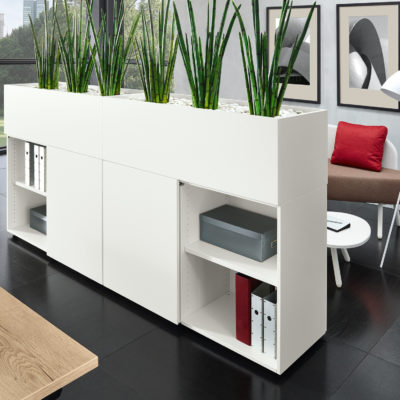 Arbeitsplatz Raumteiler Variante 2 Stauraummöbel