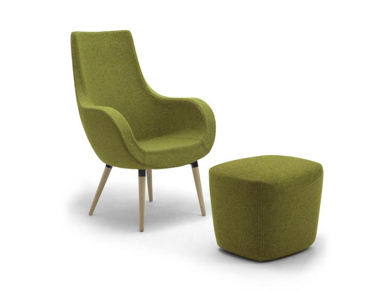 Calesita Sofa Pirum grün mit Hocker